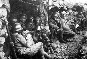 Soldiers during the Great War