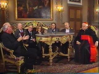 Members of the Institute received by the Card. Ratzinger (later Pope Benedetto XVI)
