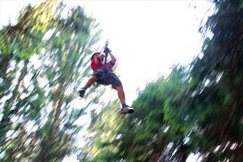 Il parco acrobatico alla Piana del Prunno