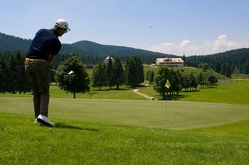 Giocatore al Golf Club Asiago